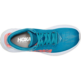 Hoka One One Carbon X Running Shoes Dame caribbean sea/white
